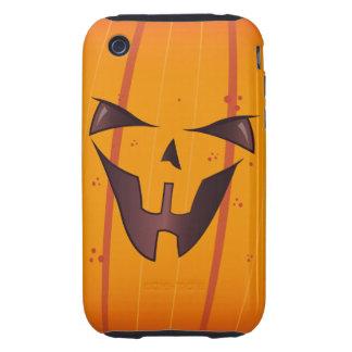 Pumpkin Face Tough iPhone 3 Cases