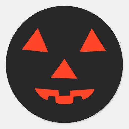 Pumpkin Face Classic Round Sticker