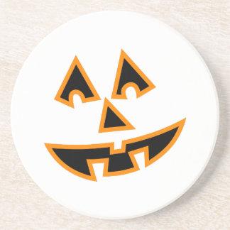 Pumpkin Face Coasters