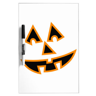 Pumpkin Face Dry Erase Whiteboards