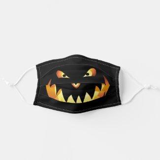 Pumpkin face for Halloween 4 Cloth Face Mask