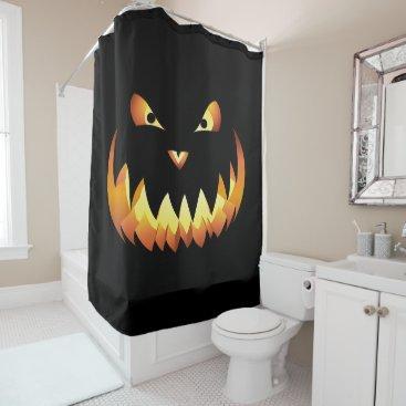 Halloween Themed Pumpkin face for Halloween... Shower Curtain