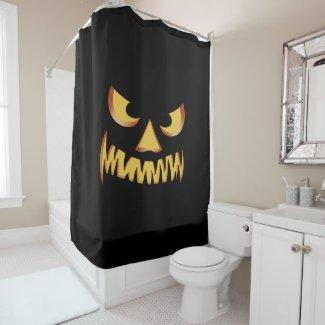 Pumpkin face for Helloween Shower Curtain