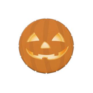 Pumpkin Face Halloween Treat Tin Jelly Belly Tins