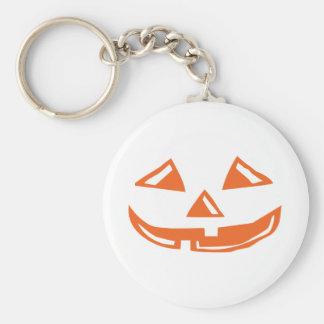 Pumpkin Face - Happy Halloween Basic Round Button Keychain