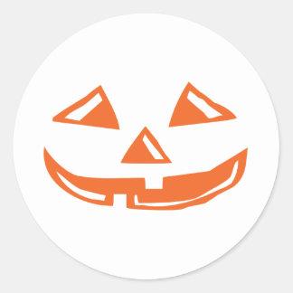 Pumpkin Face - Happy Halloween Classic Round Sticker