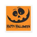 Pumpkin Face Happy Halloween Party Napkin