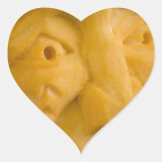 Pumpkin Face Heart Sticker