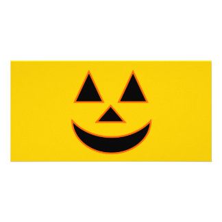 Pumpkin Face Holiday Design You Can Customize Card