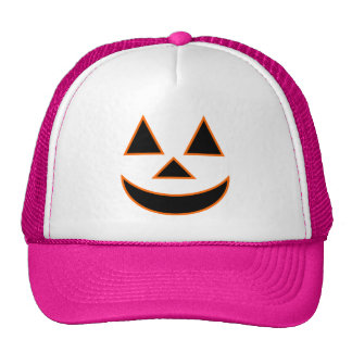 Pumpkin Face Holiday Design You Can Customize Trucker Hats
