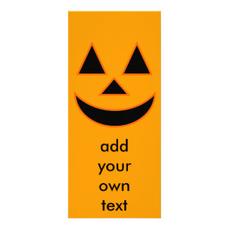Pumpkin Face Holiday Design You Can Customize Personalized Rack Card