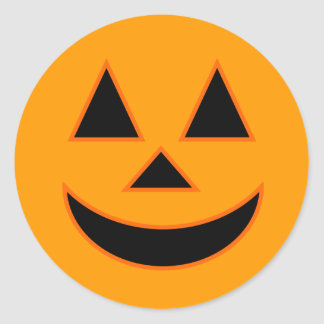 Pumpkin Face Holiday Design You Can Customize Round Sticker