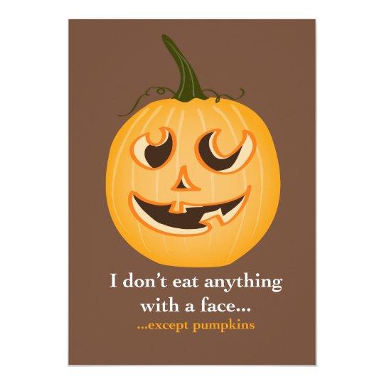 Pumpkin Face - Invitation