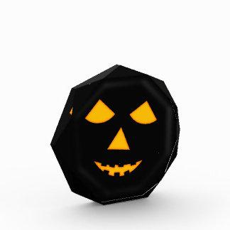 Pumpkin Face Jack o Lantern Halloween Party Prize Acrylic Award