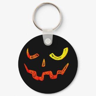 Pumpkin Face Keychain keychain