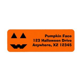 Pumpkin Face Label