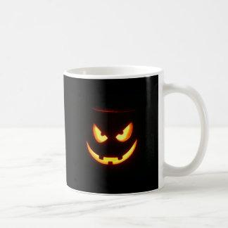 """Pumpkin Face """"Malvolent Grin"""" Coffee Mug"""