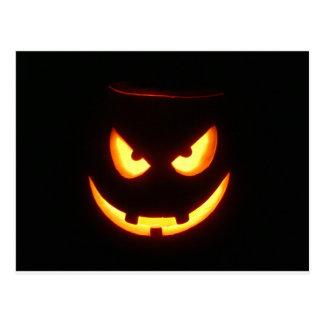 """Pumpkin Face """"Malvolent Grin"""" Postcard"""