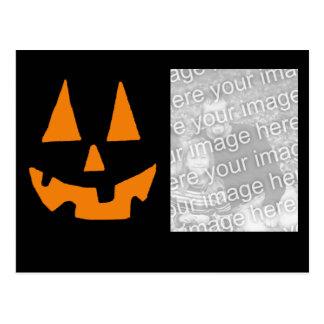 pumpkin face photo card