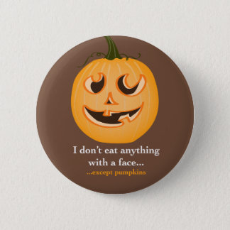 Pumpkin Face - Pin