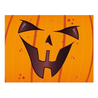 Pumpkin Face Postcard