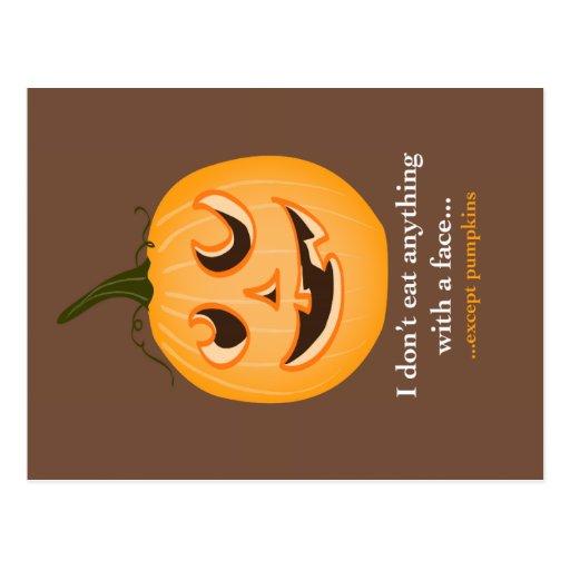 Pumpkin Face - Postcard