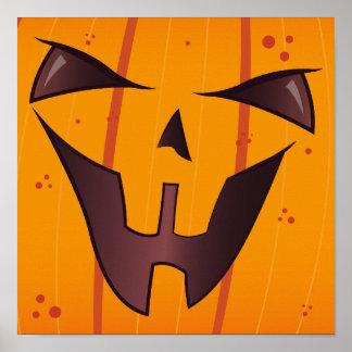 Pumpkin Face Posters