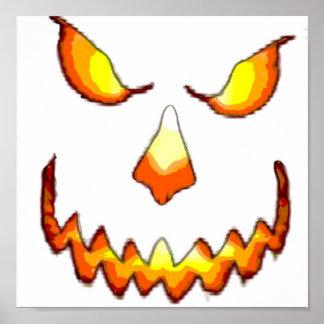 Pumpkin Face Print