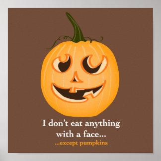 Pumpkin Face - Print