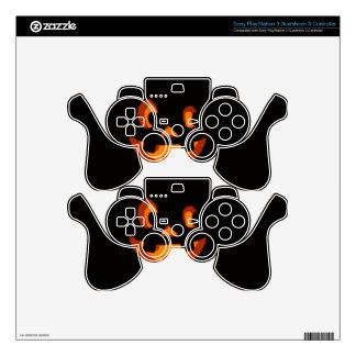 Pumpkin Face Skins For PS3 Controllers