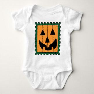 Pumpkin Face Stamp Design Shirt