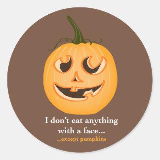 Pumpkin Face - Stickers