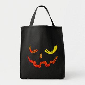 Pumpkin Face Tote Bag