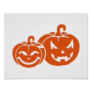 Pumpkin faces posters