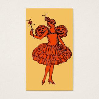 Pumpkin Fairy Halloween Bookmark or Small Card