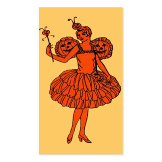 Pumpkin Fairy Halloween Bookmark or Small Card Double-Sided Standard Business Cards (Pack Of 100)