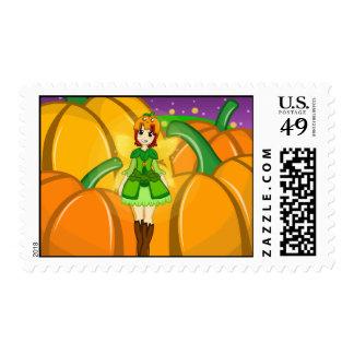 Pumpkin Fairy Harvest Postage