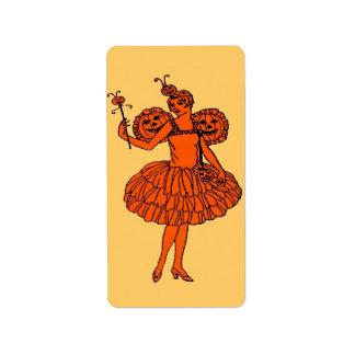 Pumpkin fairy label