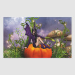 Pumpkin Fairy Rectangular Sticker
