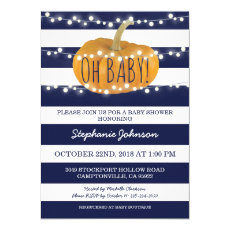 Pumpkin Fall Chic Boy Baby Shower