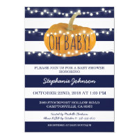 Pumpkin Fall Chic Baby Shower Invitation