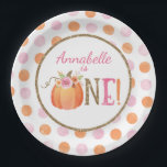"Pumpkin Fall First Birthday Party Paper Plates<br><div class=""desc"">Pumpkin Fall First Birthday Party Paper Plates</div>"