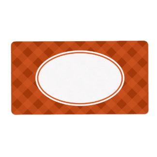 Pumpkin Fall Food Kitchen Gingham Labels