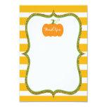 Pumpkin Fall Thank You Card for Girl or Boy