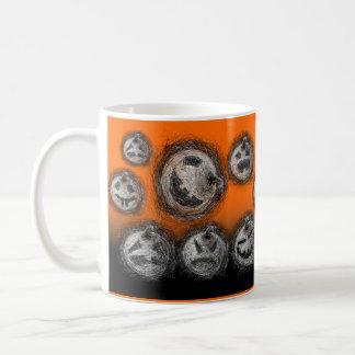 Pumpkin Family  Halloween Mug Scratch
