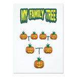 "Pumpkin Family Tree 5"" X 7"" Invitation Card"