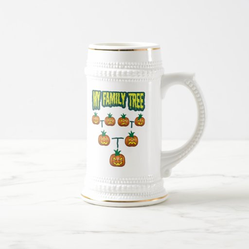 Pumpkin Family Tree Coffee Mugs