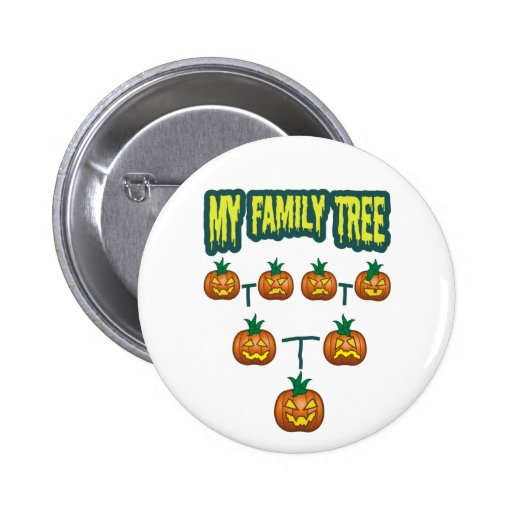 Pumpkin Family Tree Pinback Button
