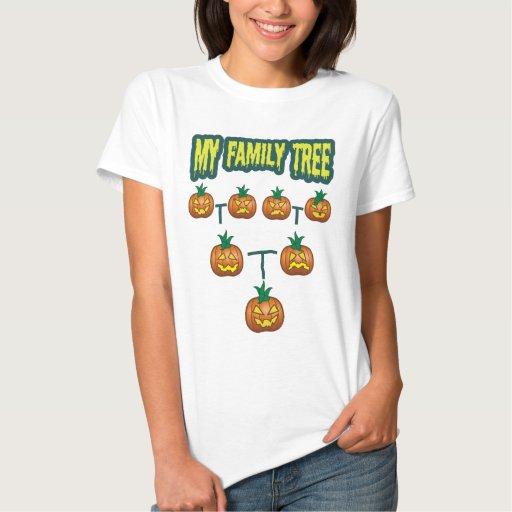 Pumpkin Family Tree Tshirts