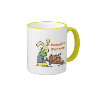 Pumpkin Farmer T-shirts and Gifts Ringer Coffee Mug